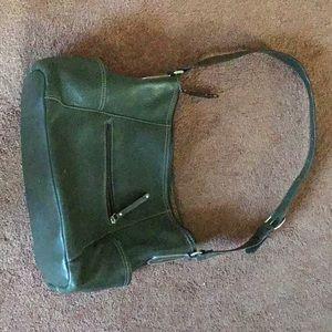 Leather Tignanello Green Shoulder Bag